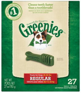 Greenies Dental Dog Treats & Dog Chews Regular