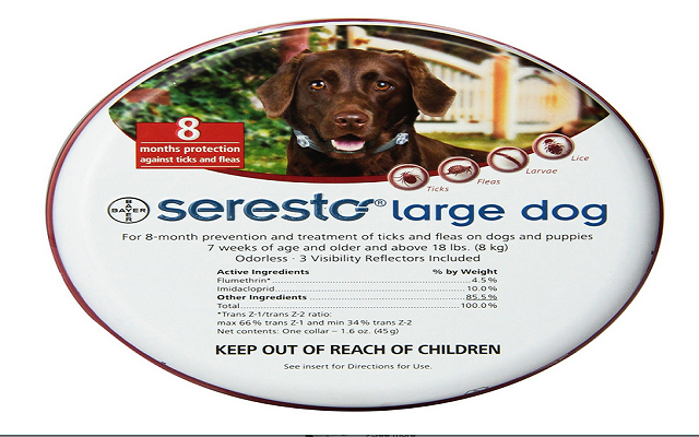 Bayer seresto flea tick collar large dog