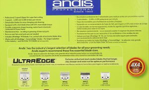 Andis Dog Clippers UltraEdge AGC2 Model 22360 specs 1