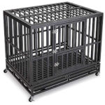 Gelinzon 42 inch Heavy Duty Dog Crate