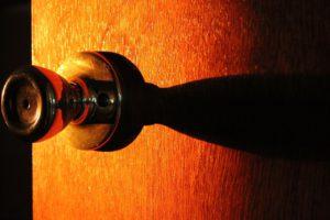doorknob and wooden door